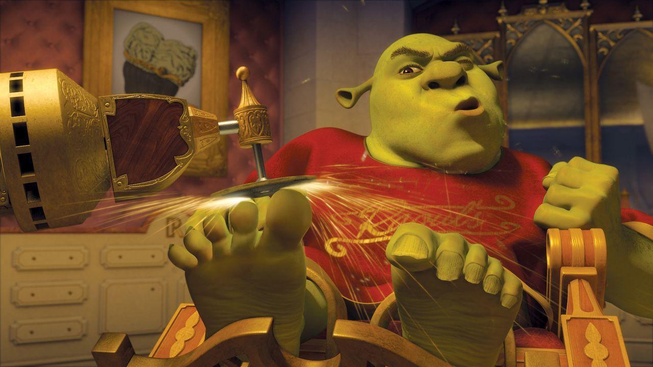 Es ist nicht leicht, ein Oger zu sein. Und nun soll Shrek auch noch seinen Schwiegervater, den König, während dessen Krankheit vertreten ... - Bildquelle: TM &   2007 Dreamworks Animation LLC