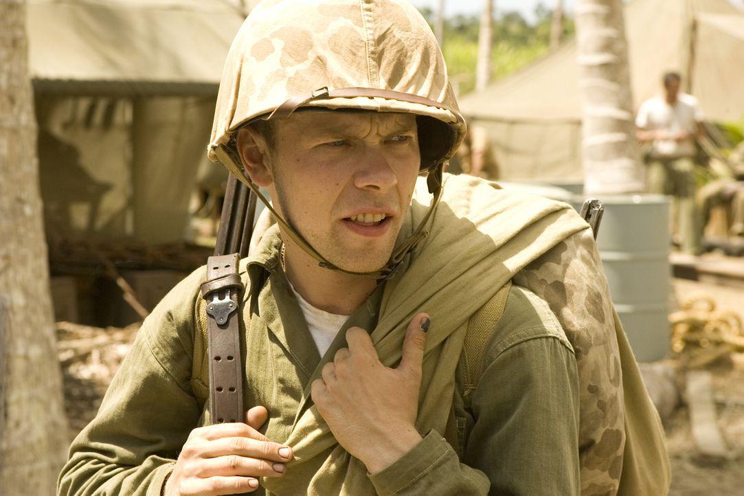 Himmelfahrtskommando Peleliu: Bill Leyden (Brendan Fletcher) ... - Bildquelle: Home Box Office Inc. All Rights Reserved.