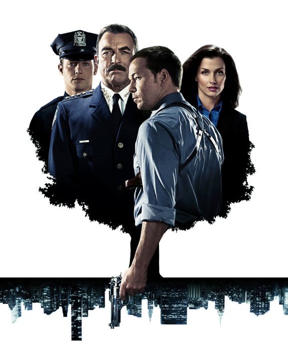 (1. Staffel) - Familie Reagan sorgt in New York für Recht und Ordnung (v.l.n.r.): Jamie (Will Estes), Frank (Tom Selleck), Danny (Donnie Wahlberg) u... - Bildquelle: 2010 CBS Broadcasting Inc. All Rights Reserved