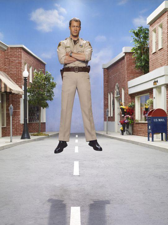 (3. Staffel) - Vor einiger Zeit landete Jack Carter (Colin Ferguson) durch Zufall in Eureka, einem kleinen Städtchen, in dem alles etwas anders ist... - Bildquelle: Universal Television
