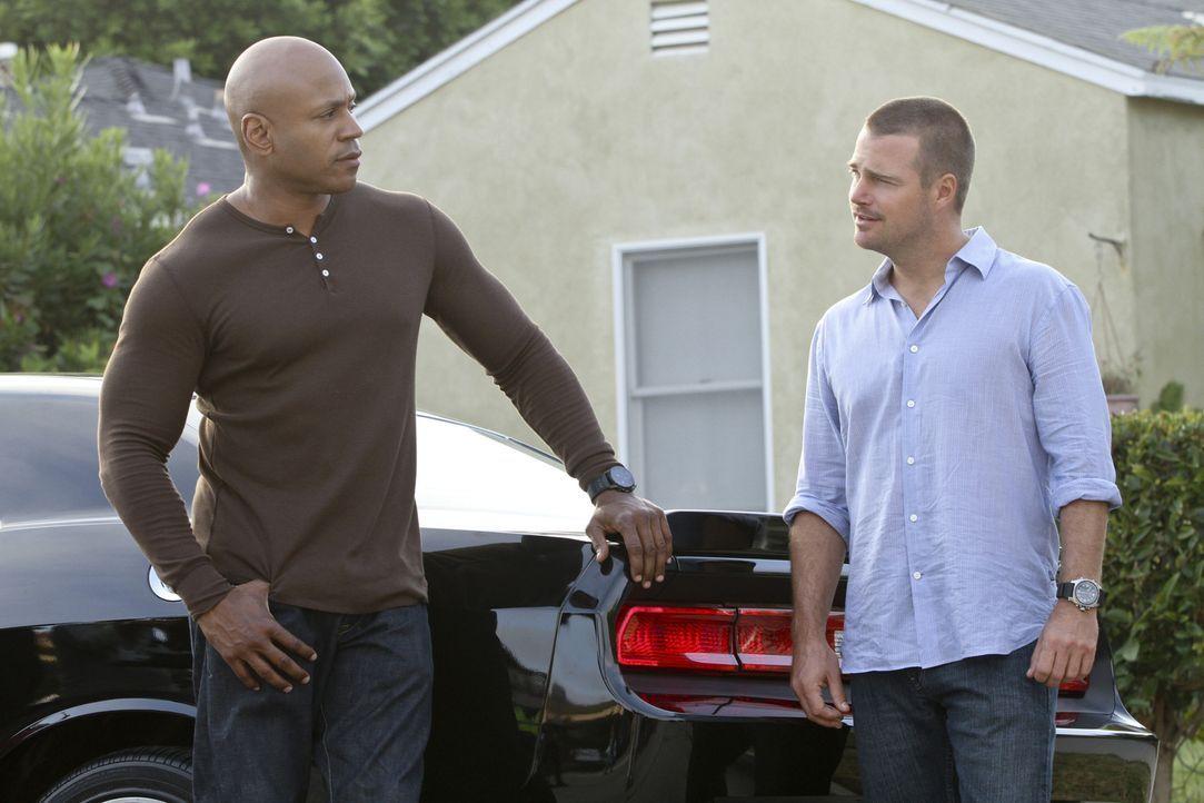 Ein neuer Mordfall wartet auf Callen (Chris O'Donnell, r.) und Hanna (LL Cool J, l.) ... - Bildquelle: CBS Studios Inc. All Rights Reserved.