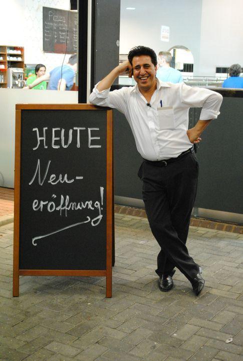 """Mohamed Moselhy (53) führt das Restaurant """"Portofino"""" in Gescher im Münsterland seit Mai 2010. Der gebürtige Ägypter hatte 80.000 Euro in den Umbau... - Bildquelle: kabel eins"""