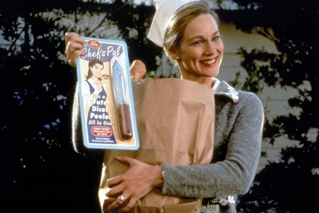 Auch Trumans Ehefrau Meryl (Laura Linney) ist lediglich eine Schauspielerin ... - Bildquelle: Paramount Pictures