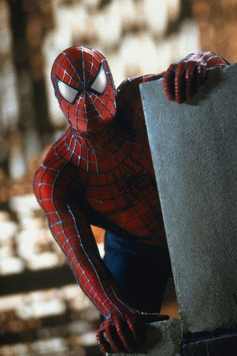 Unterwegs im Kampf gegen das Verbrechen: Peter Parker alias Spider-Man (Tobey Maguire) - Bildquelle: 2003 Sony Pictures Television International
