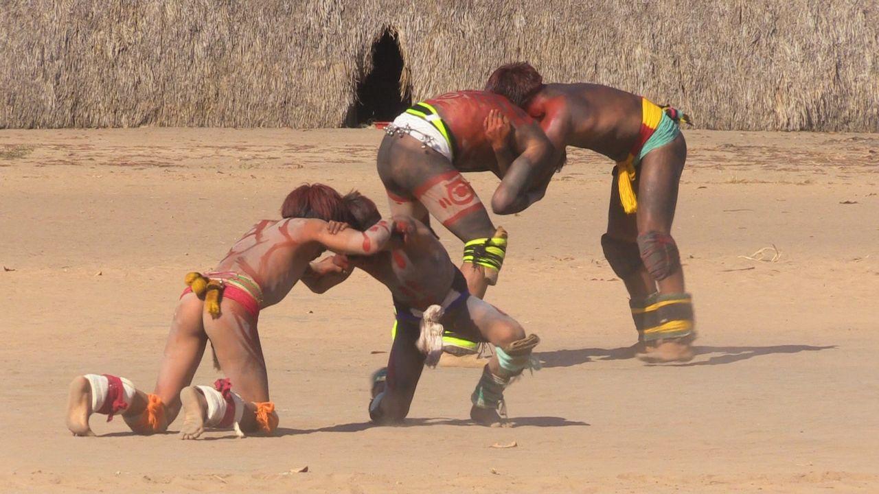 Huka Huka, Ringkampf der Kamayura