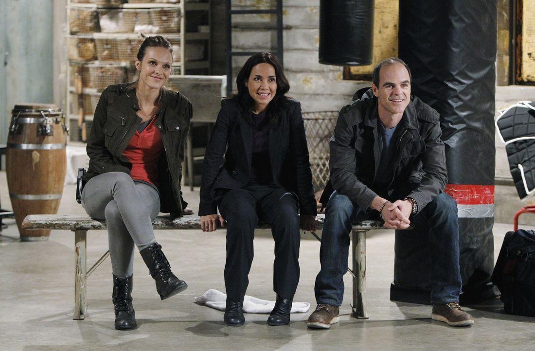 Müssen einen Heckenschützen dingfest machen: John (Michael Kelly, r.), Beth (Janeane Garofalo, M.) und Gina (Beau Garrett, l.) ... - Bildquelle: ABC Studios