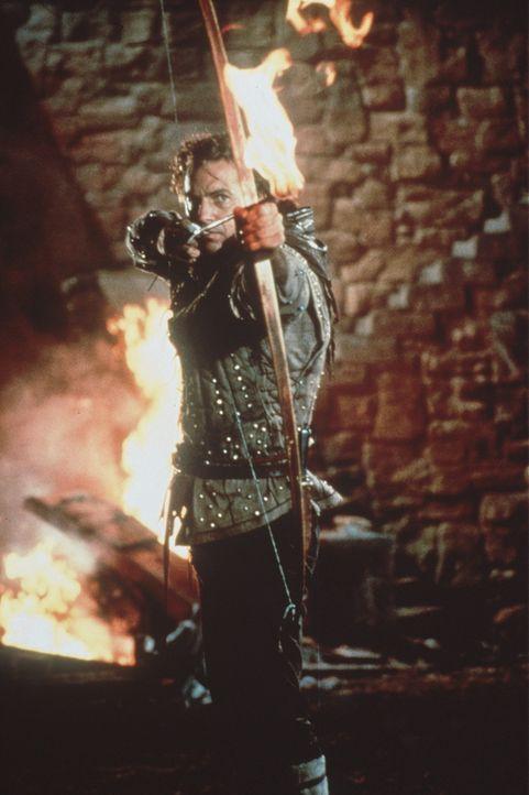 Zurück von den Kreuzzügen tritt Robin Hood (Kevin Costner) den Kampf gegen den tyrannischen Sheriff von Nottingham an, der in Abwesenheit des Kön... - Bildquelle: WARNER BROS.