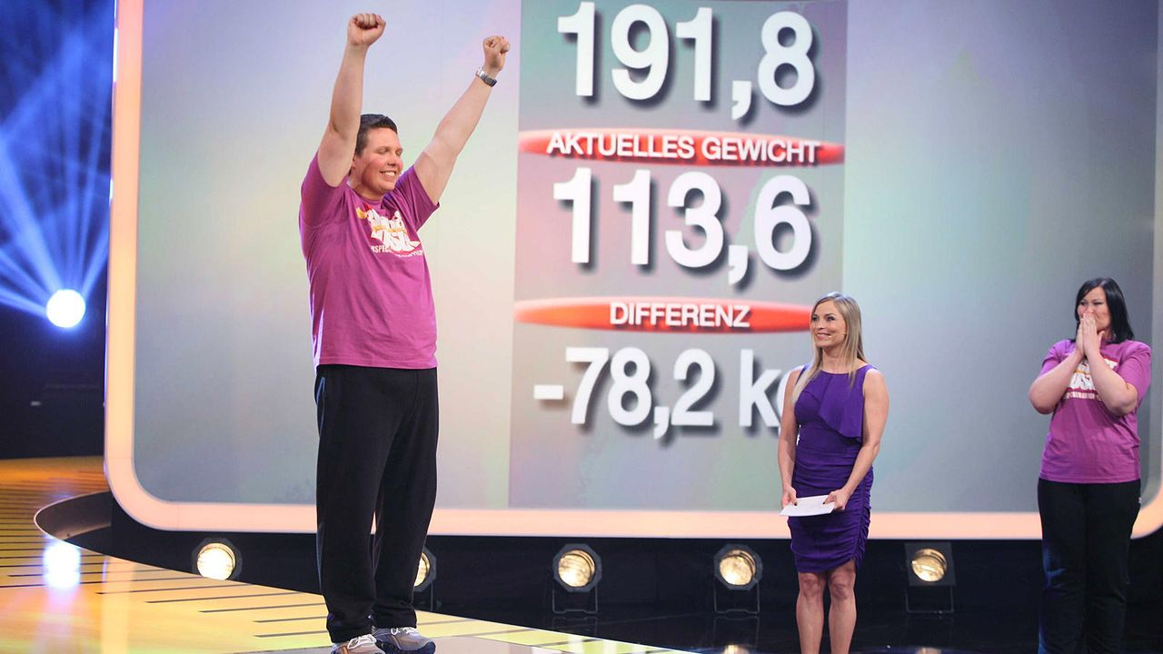 the-biggest-loser-finale-team-violett-peter2-kabeleins 1600 x 900 - Bildquelle: kabel eins