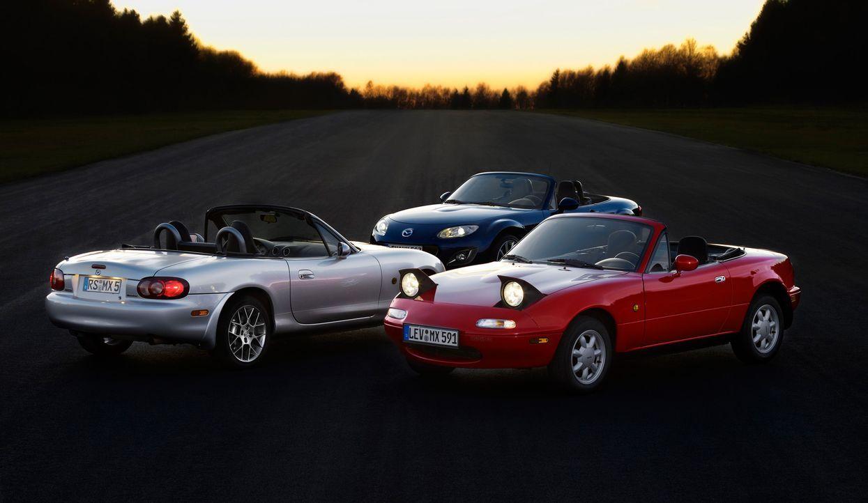 Mazda MX5 3 Generationen (7) - Bildquelle: Hildebrandt/Lorenz