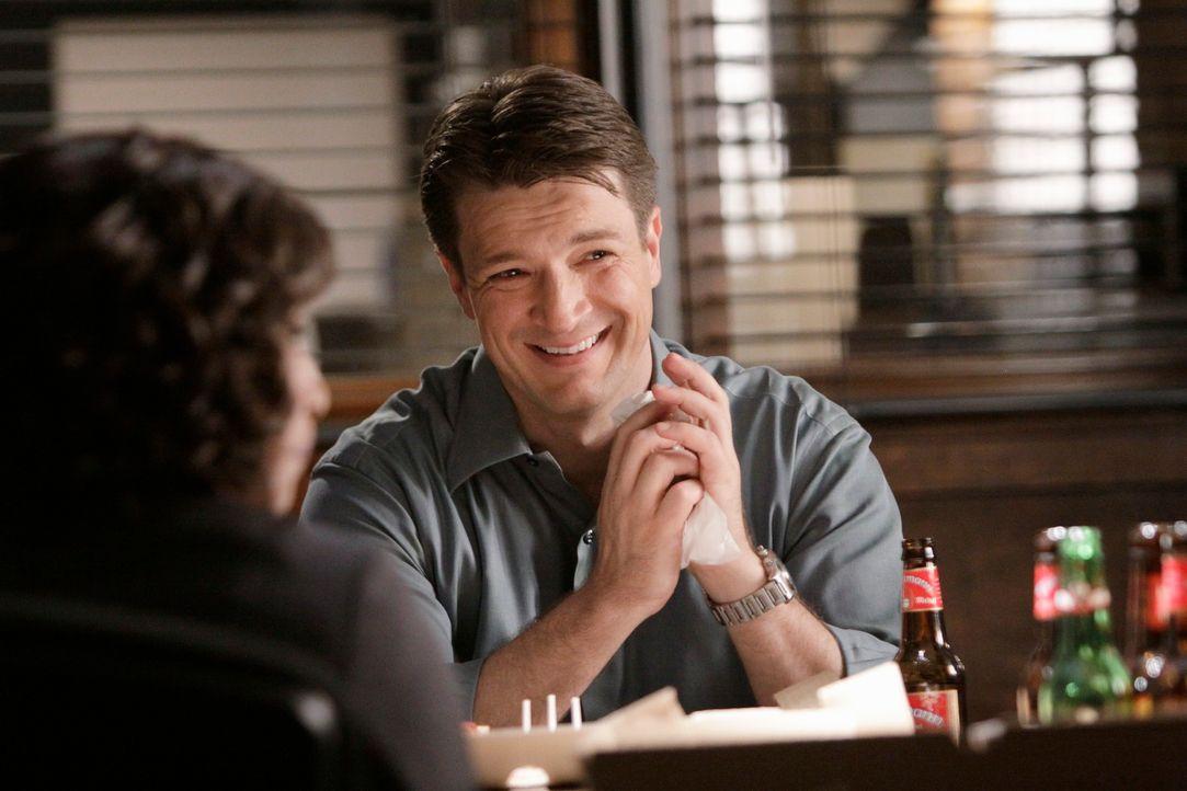 Während hochgehende Emotionen im aktuellen Fall mit einem Mord endeten, begnügt sich Castle (Nathan Fillion) mit der Ankündigung dass er sich für ei... - Bildquelle: ABC Studios