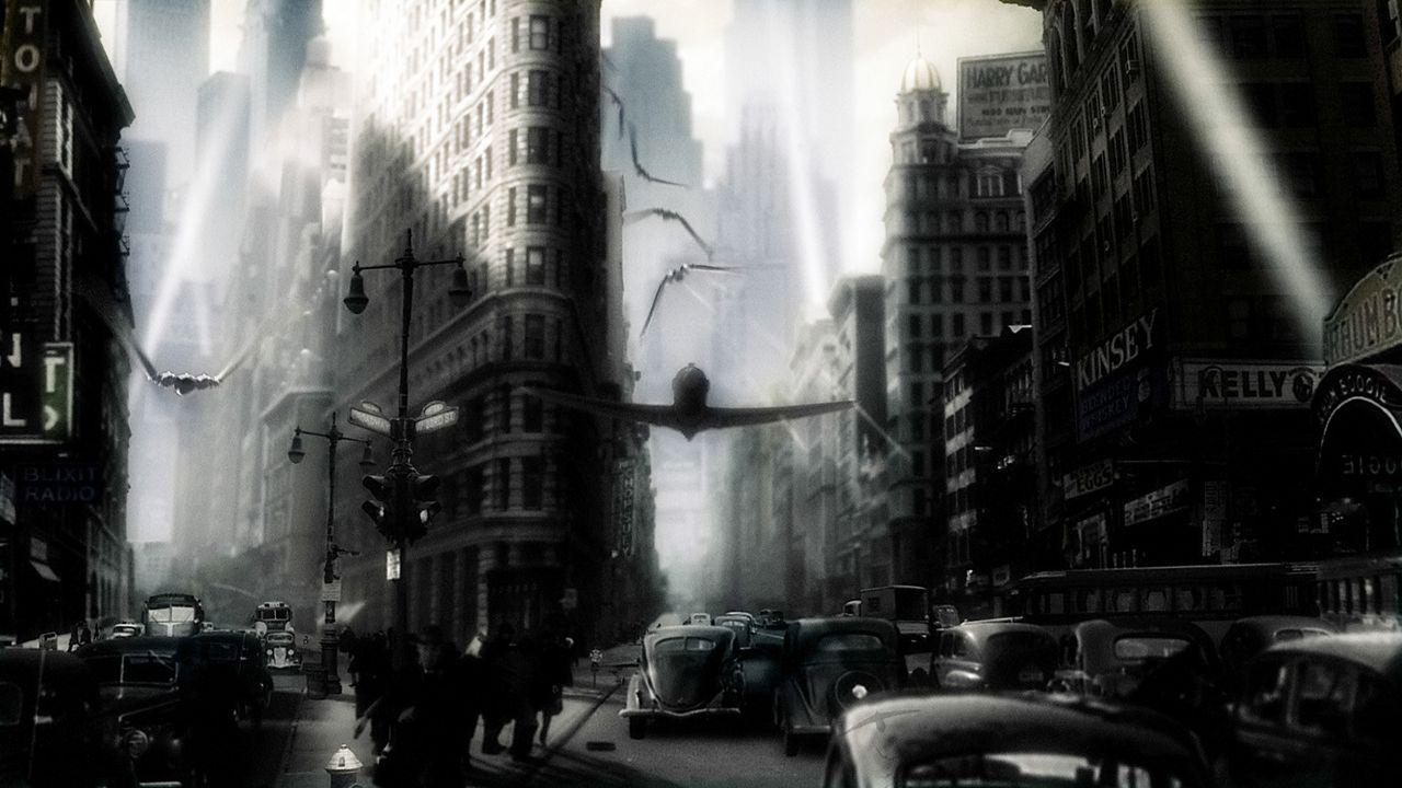 """Das geniale Superhirn ?Dr. Totenkopf"""" beherrscht eine Armee finsterer Kreaturen und plant die Vernichtung des Planeten. Können Polly und Sky Captai... - Bildquelle: TM & Copyright   Brooklyn Films II And Filmauro S.R.L."""