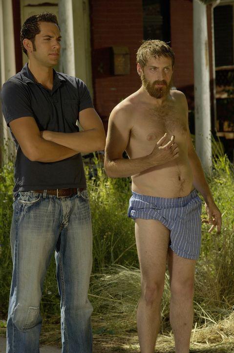 Ben (Zachary Levi, l.) weiß ganz genau, wie er Joel (Fran Kranz, r.) wieder auf andere Gedanken bringen kann ... - Bildquelle: 2007 Screen Gems, Inc. All Rights Reserved
