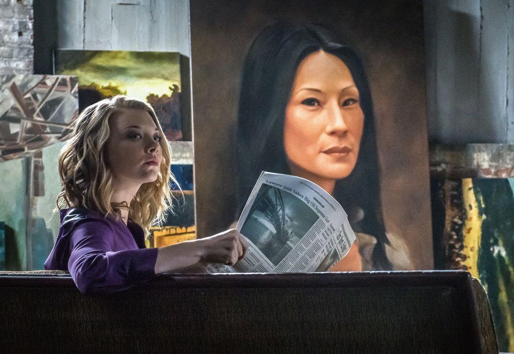 Das Gemälde, das Jamie Moriarty (Natalie Dormer) in ihrer Gefängniszelle von Joan Watson angefertigt hat, ist der Ermittlerin wie aus dem Gesicht ge... - Bildquelle: CBS Television