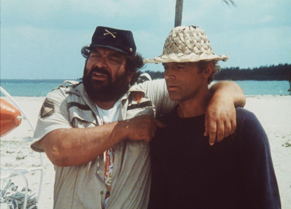 Für jede Mende Kleinholz wird gesorgt: Alan (Terence Hill, r.) und Charlie (Bud Spencer, l.) ...