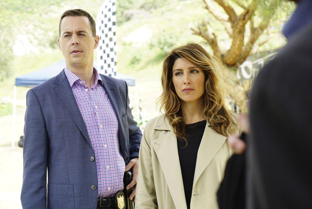 Bei den Ermittlungen: Alex Quinn (Jennifer Esposito, r.) und Timothy McGee (Sean Murray, l.) ... - Bildquelle: 2017 CBS Broadcasting, Inc. All Rights Reserved.