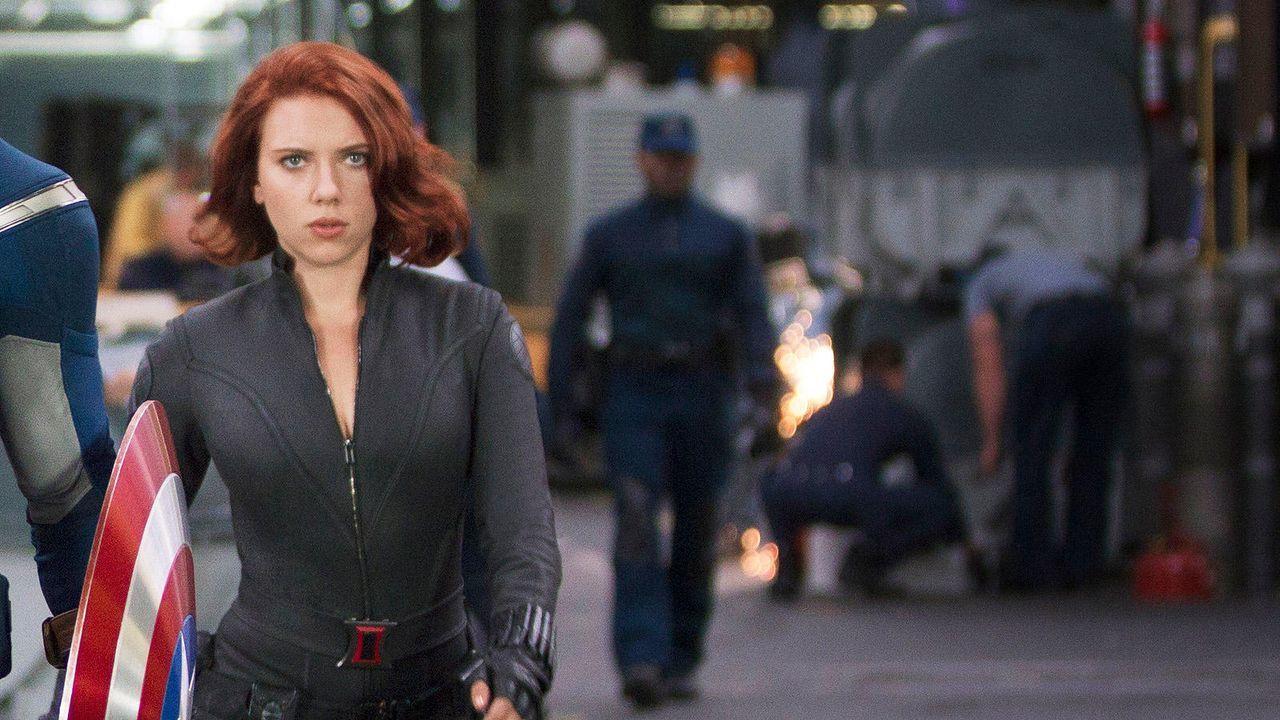 """Scarlett Johannson in """"The Avengers"""" - Bildquelle: 2011 MVLFFLLC TM & 2011 Marvel"""