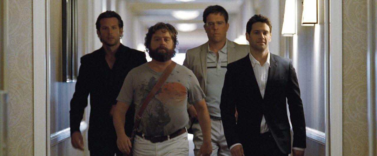 Bevor Doug (Justin Bartha, r.) in den Hafen der Ehe einfährt, will er noch einmal so richtig einen draufmachen und fährt deshalb mit seinen Kumpels... - Bildquelle: Warner Brothers