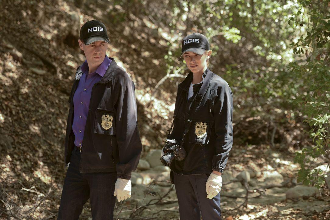 Als ein Militärpolizist ermordet aufgefunden wird, müssen McGee (Sean Murray, l.) und Bishop (Emily Wickersham, r.) undercover als Ehepaar ermitteln... - Bildquelle: Darren Michaels CBS Television / Darren Michaels