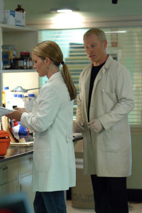 Mit ihrem Wissen, versuchen Dr. Natalie Durant (Kelli Williams, l.) und Dr. Stephen Connor (Neal McDonough, r.) einen außergewöhnlichen medizinisc... - Bildquelle: CBS Television