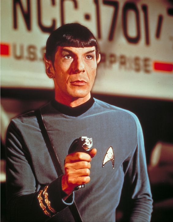Cmdr. Spock (Leonard Nimoy) kommt als Wissenschaftsoffizier gerade noch rechtzeitig auf die Enterprise ? - Bildquelle: Paramount Pictures