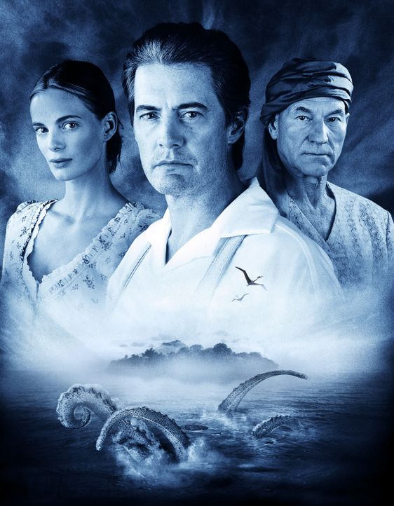 Mysterious Island - Die geheimnisvolle Insel mit (v.l.n.r.) Gabrielle Anwar, Kyle MacLachlan und Patrick Stewart - Bildquelle: 2006 RHI Entertainment Distribution, LLC