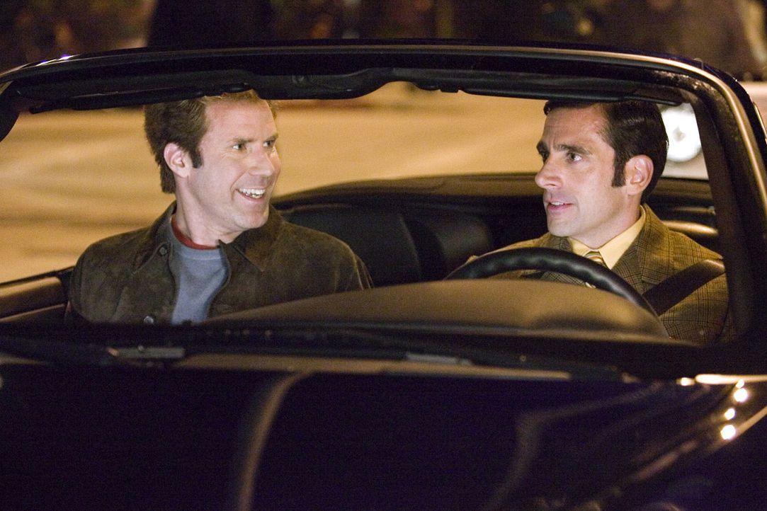 Freundlich ausgedrückt hat Jack Wyatt (Will Ferrell, l.) seine besten Tage als Leinwandstar schon hinter sich. Ein Comeback muss her, und sein enthu... - Bildquelle: 2005 Columbia Pictures Industries, Inc. All Rights Reserved.