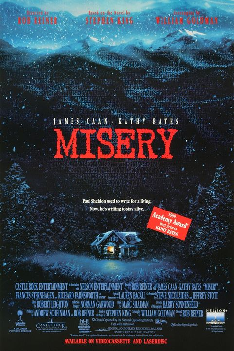 """Stephen King's Misery"" - Plakat - Bildquelle: Castle Rock Entertainment"