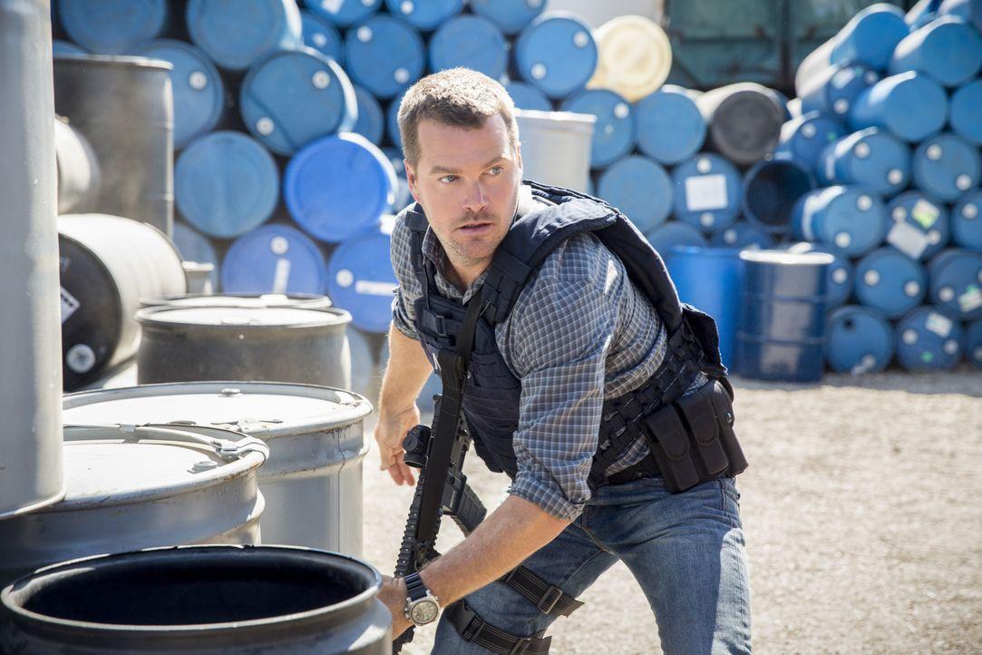 Auf Callen (Chris O'Donnell) und seine Kollegen wartet ein neuer Fall ... - Bildquelle: Erik Voake 2016 CBS Broadcasting, Inc. All Rights Reserved. / Erik Voake