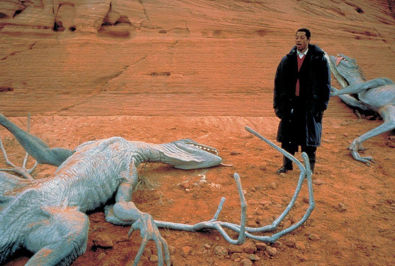 Unglücklicherweise entwickelt sich aus der Alien-Paste in rasantem Tempo so ziemlich alles, was die Menschheit glaubte, schon überwunden. Fliegend... - Bildquelle: 2003 Sony Pictures Television International