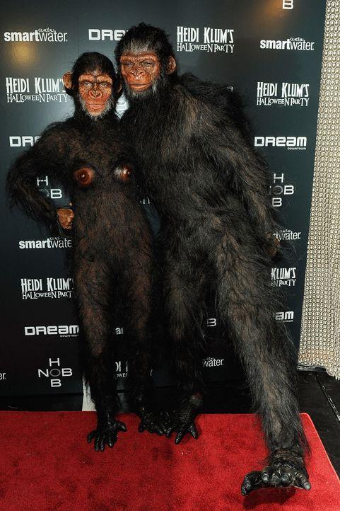 Stars an Halloween: Heidi Klum & Seal - Bildquelle: getty-AFP