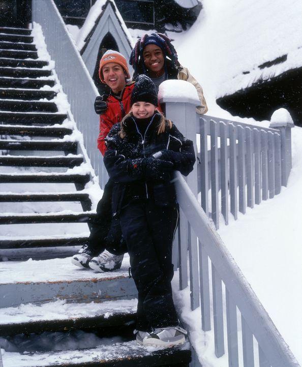 Jonny (Brandon Baker, M.) findet schnell Anschluss bei seinen neuen Mitschülern Sam (Lee Thompson Young, oben) und Emily (Kirsten Storms, unten) ... - Bildquelle: Disney