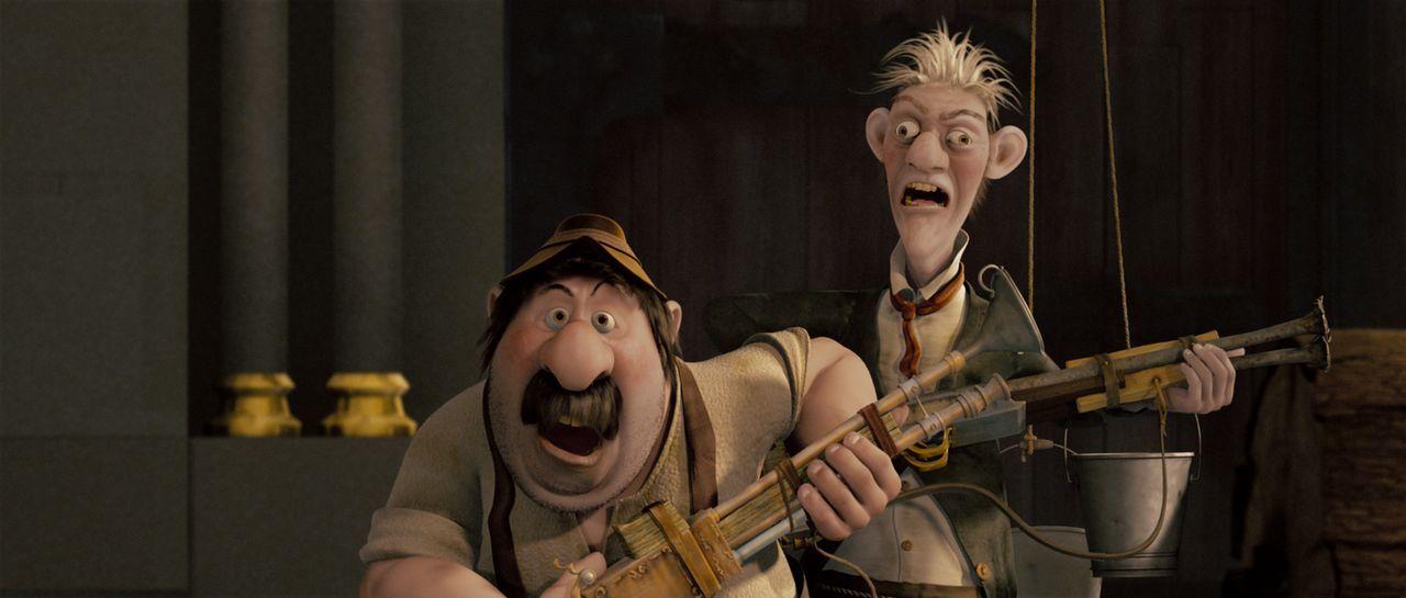 """Ignaz und Schwaiger: """"Wir sind die Männer vom KGB!"""" - Bildquelle: 2007 herbX film gmbh (Alle Rechte vorbehalten)"""