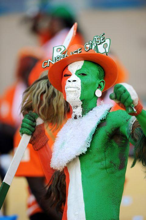 Die ivorischen Fans -3 - Bildquelle: AFP
