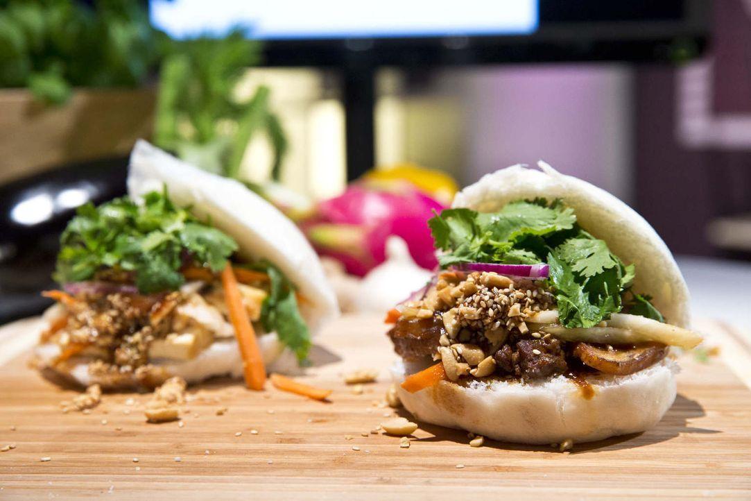 Burger mal anders: Kann die asiatische Version eines Burgers die Investoren überzeugen? - Bildquelle: Richard Hübner kabel eins