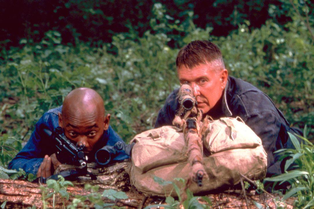 Stecken bis zum Hals in Schwierigkeiten: Cole (Bokeem Woodbine, l.) und Sergeant Thomas Beckett (Tom Berenger, r.) ... - Bildquelle: Columbia Pictures Corporation