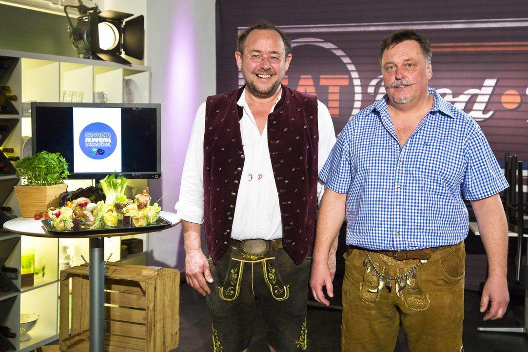 """Zusammen wollen Joachim und Robert von """"Running Bavarian Sushi"""" die kritische Jury zu einer Investition in ihr Konzept  bewegen ... - Bildquelle: kabel eins"""