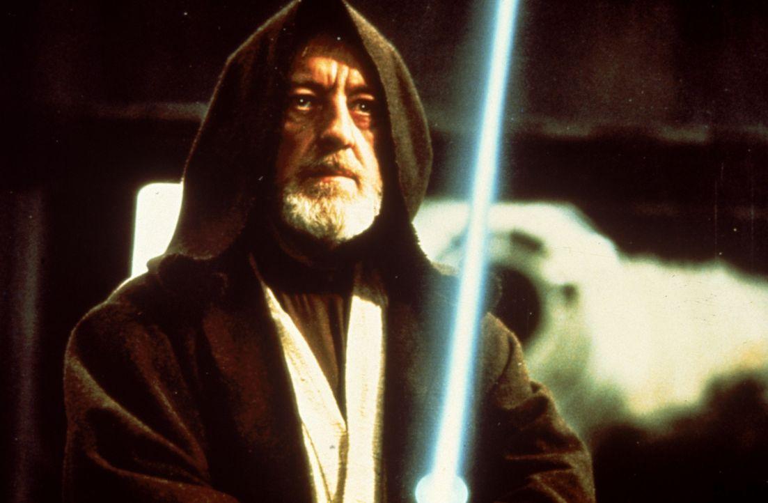 Obi-Wan (Alec Guinness) tritt zum alles entscheidenen Kampf gegen Darth Vader an ... - Bildquelle: 1997 Lucasfilm Ltd. All rights reserved.