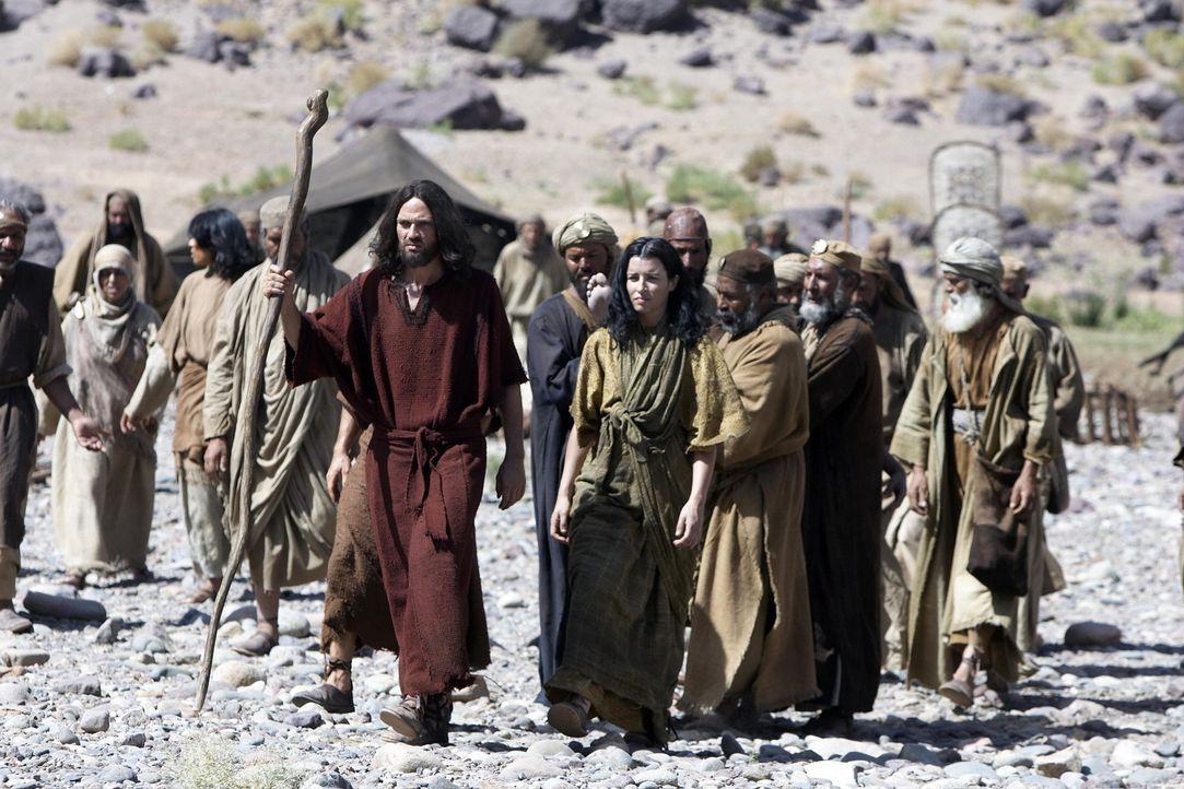 Moses (Dougray Scott, vorne) und sein Volk stehen am Beginn einer Reihe von Prüfungen ... - Bildquelle: Hallmark Entertainment