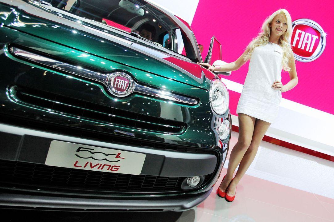 automesse-frankfurt-Fiat500-130910-dpa - Bildquelle: dpa