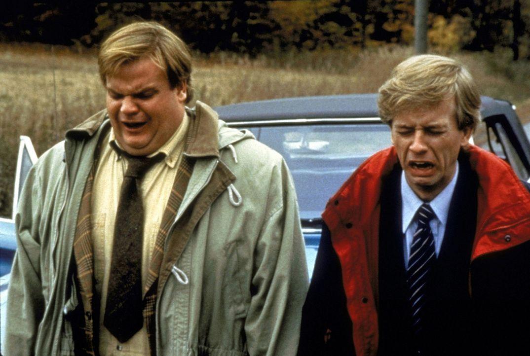 Dumm gelaufen - Tommy Boy (Chris Farley, l.) und sein Kompagnon Richard (David Spade, r.) stecken wieder einmal in der Patsche ... - Bildquelle: Paramount Pictures