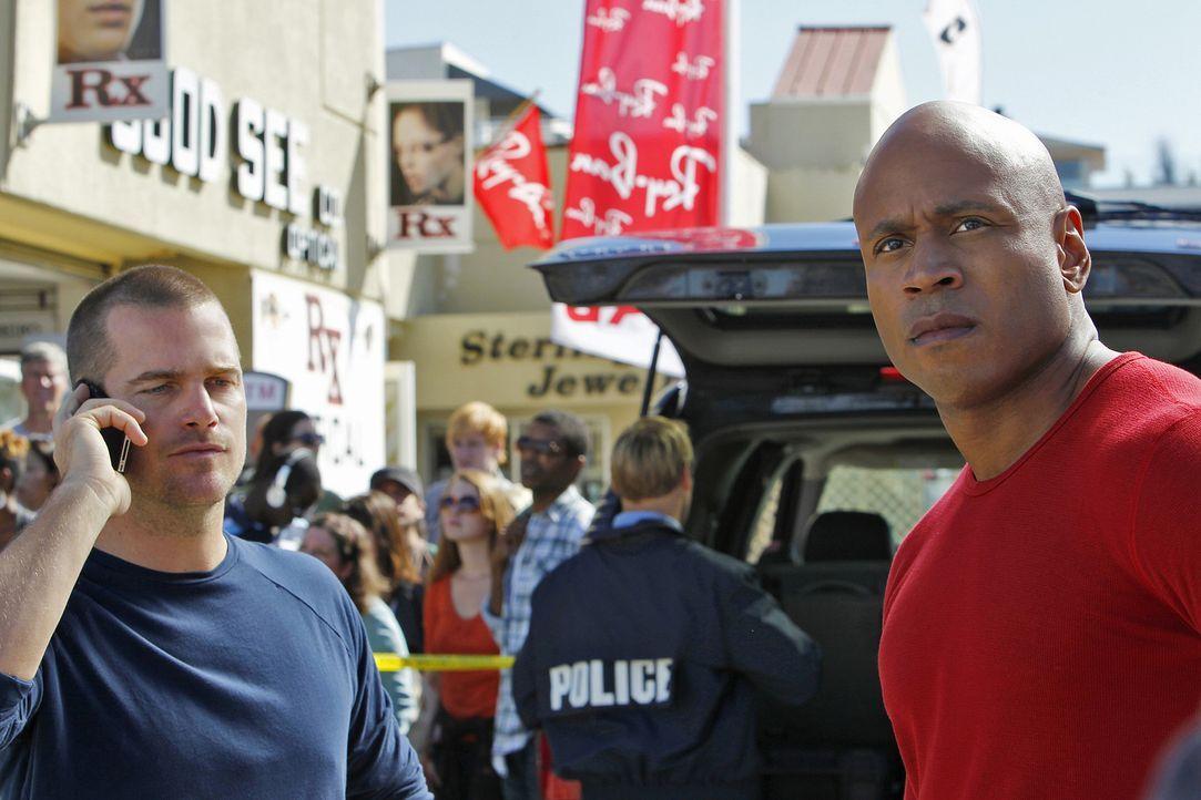 Ermitteln in einer Undercovereinheit in Los Angeles: Callen (Chris O'Donnell, l.) und Sam (LL Cool J, r.) ... - Bildquelle: CBS Studios Inc. All Rights Reserved.