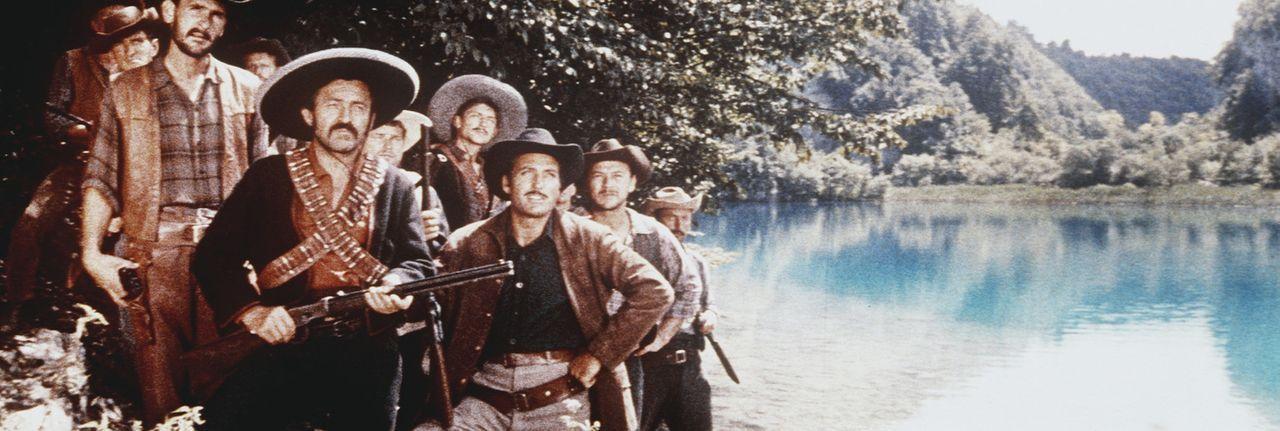 Die pure Geldgier der Desperados treibt sie zu immer neuen Schandtaten und machen damit einen dauernden Frieden zwischen Indianern und Siedlern unm - Bildquelle: Columbia Pictures