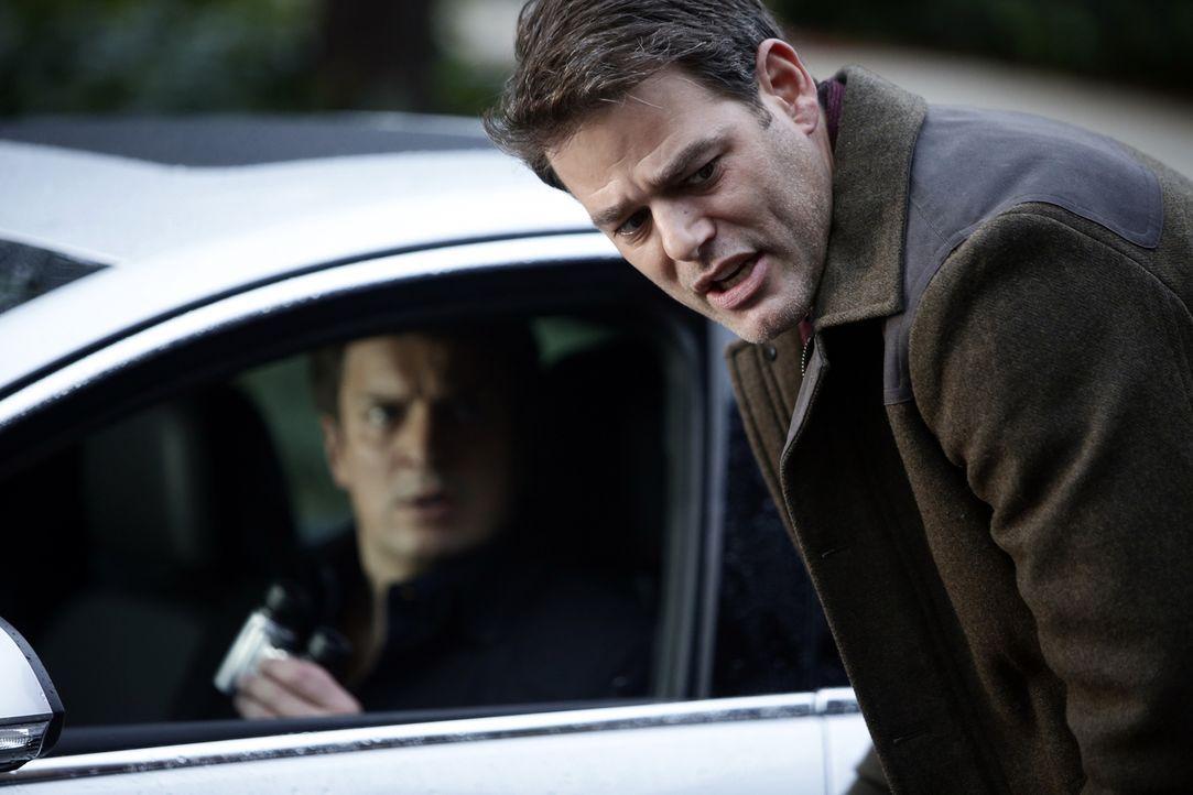 Noch ahnen Cole (Ivan Sergei, vorne) und Castle (Nathan Fillion, hinten) nicht, dass sie Opfer eines großen Komplotts werden ... - Bildquelle: ABC Studios