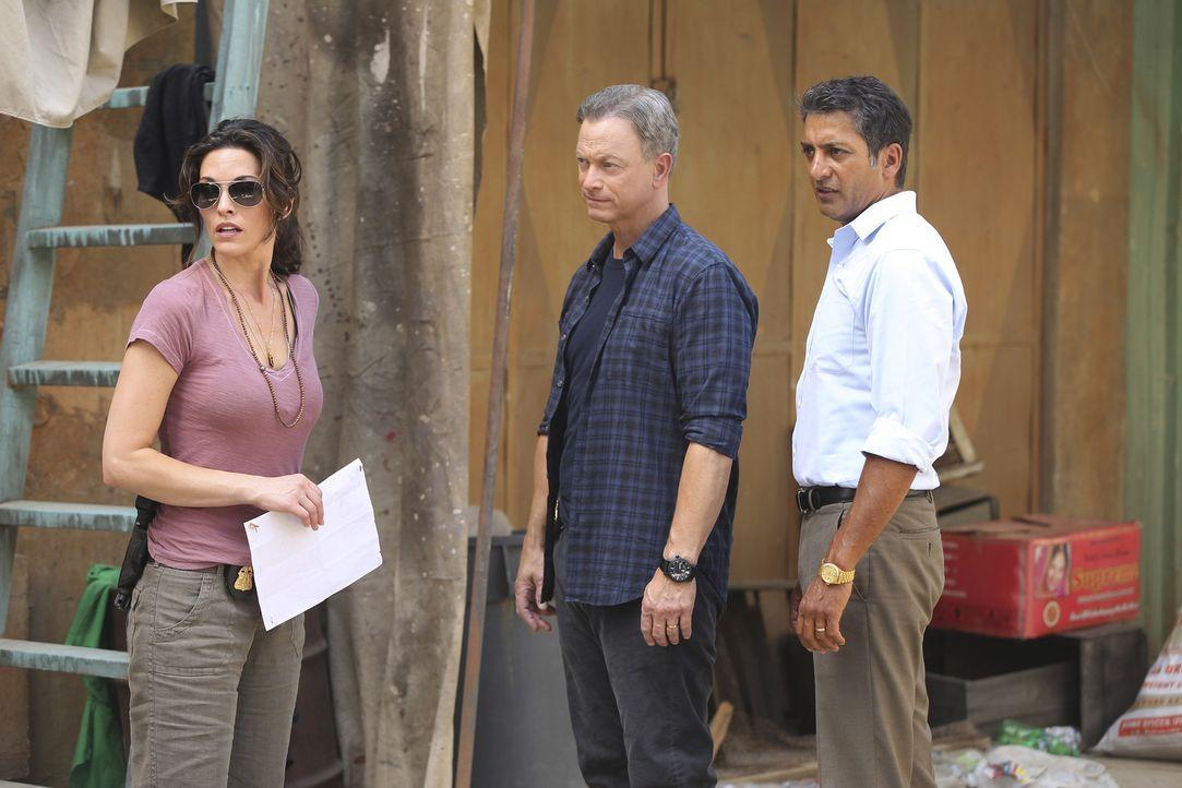 Agent Deepak Singh (Hari Dhillon, r.) hofft, dass Jack (Gary Sinise, M.), Clara (Alana De La Garza, l.) und die anderen Mitglieder des International... - Bildquelle: Monty Brinton 2015 American Broadcasting Companies, Inc. All rights reserved.