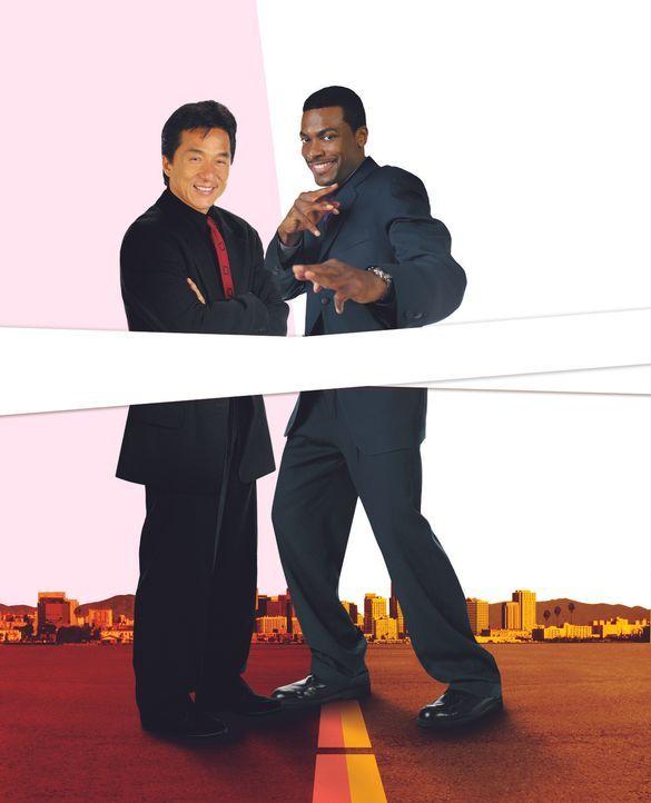 Top-Agenten auf der Suche nach einem entführten Mädchen: James Carter (Chris Tucker, r.) und Inspektor Lee (Jackie Chan, l.) ... - Bildquelle: New Line Cinema