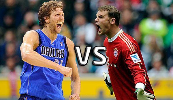 Nowitzki vs Neuer  - Bildquelle: dpa