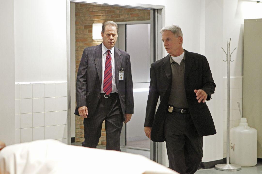 Versuchen einen neuen Fall aufzudecken: Gibbs (Mark Harmon, r.) und Metro Detective Danny Sportelli (Jack Conley, l.) ... - Bildquelle: CBS Television