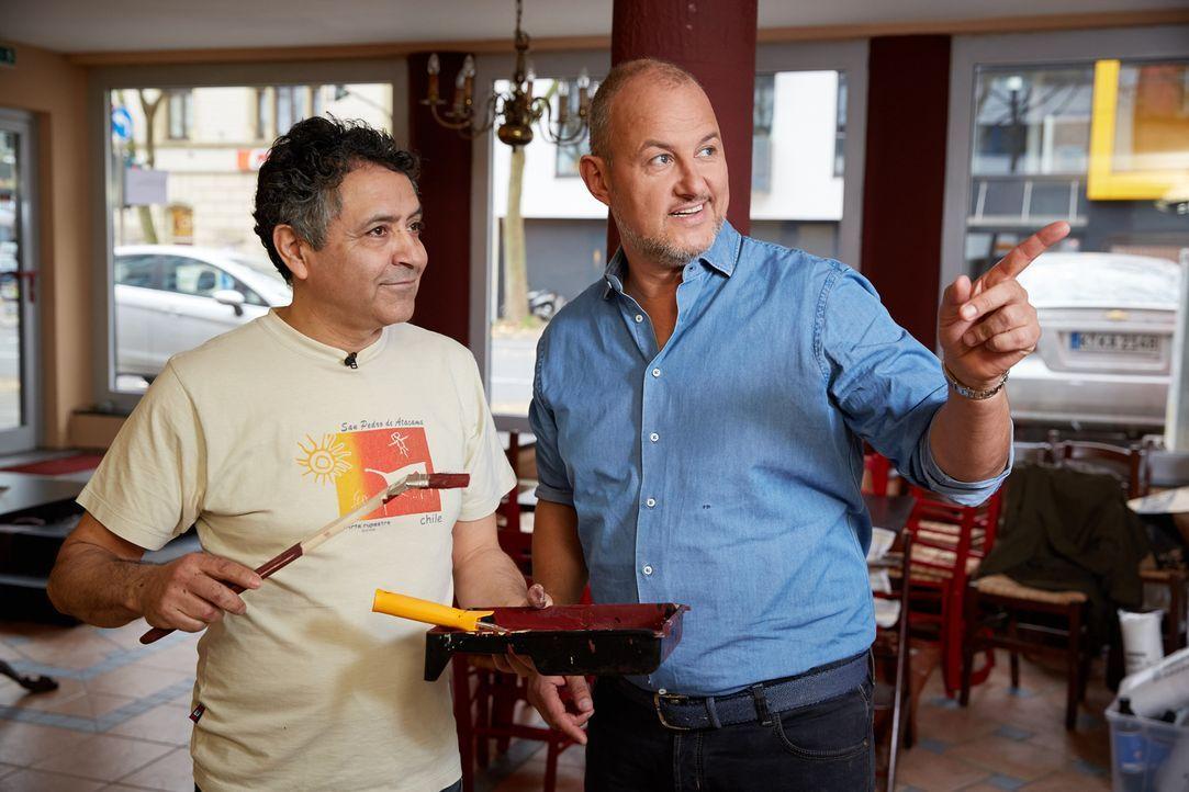 """Das chilenische Restaurant """"Wulaia"""" steht kurz vor dem Aus, da Juan Carlos Mauricio Palma (l.) und seine Frau finanziell am Ende sind. Kann Sterneko... - Bildquelle: Guido Engels kabel eins"""