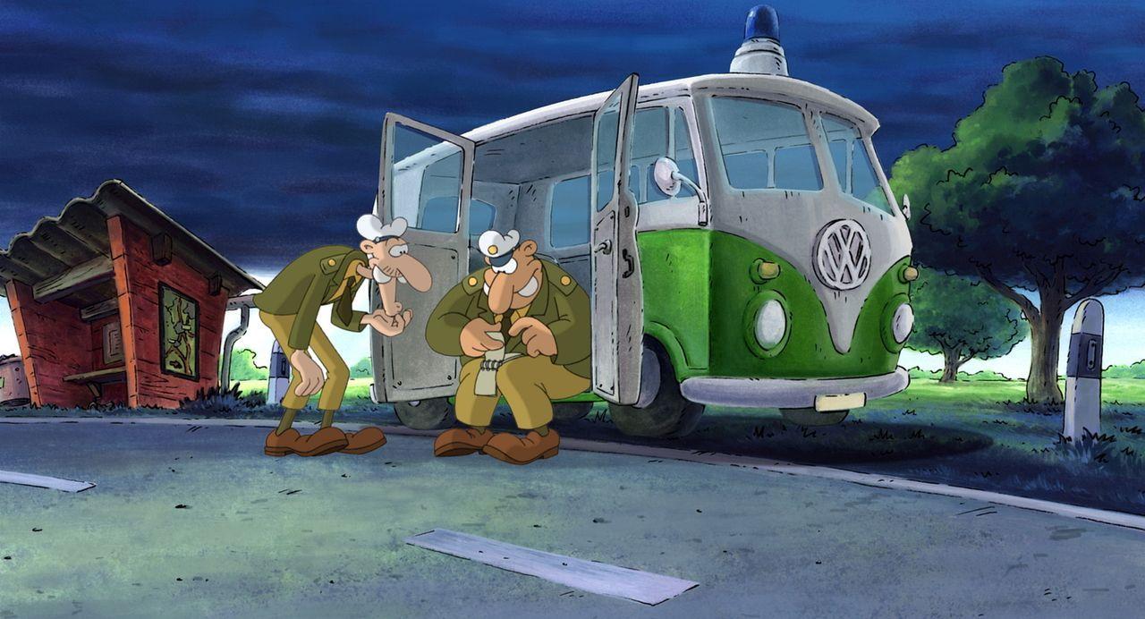 Autoklau in ihrem Einsatzgebiet - das lassen sich die Bullen nicht bieten und sofort legen sie sich auf die Lauer ... - Bildquelle: Constantin Film