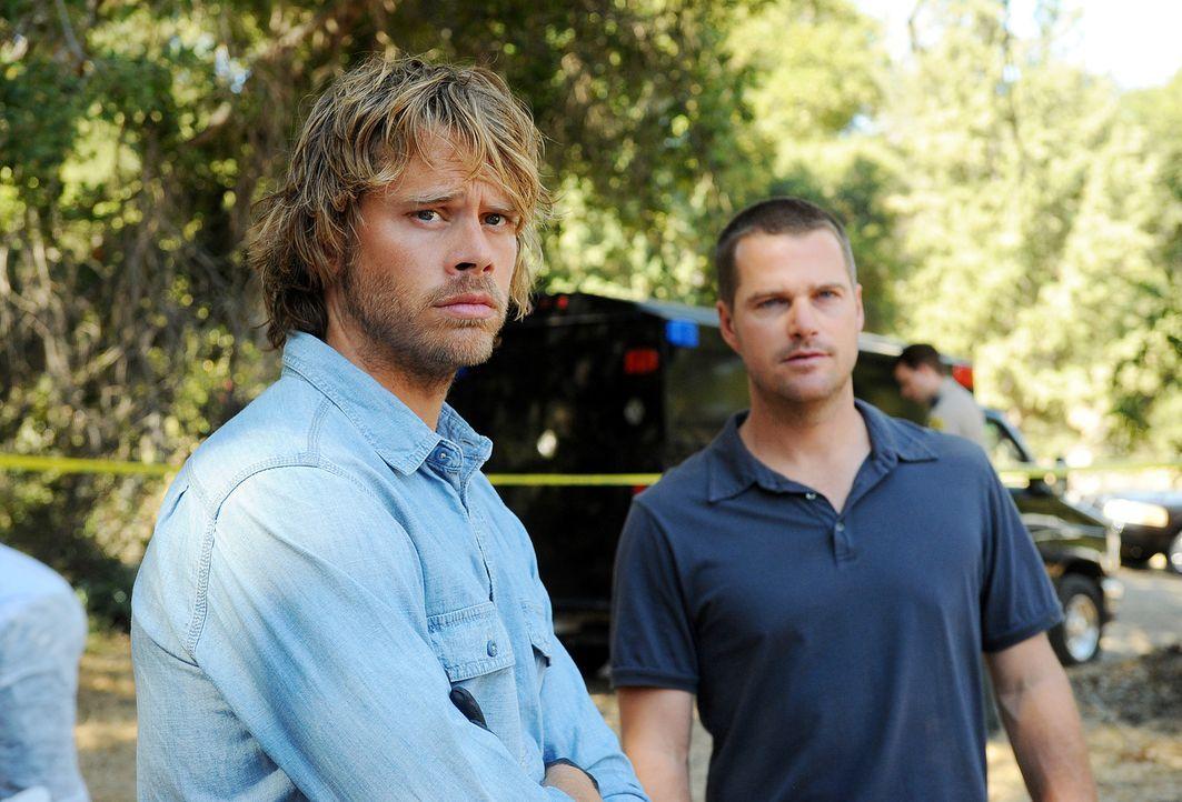 Ein neuer Fall beschäftigt Callen (Chris O'Donnell, r.) und Deeks (Eric Christian Olsen, l.) ... - Bildquelle: CBS Studios Inc. All Rights Reserved.